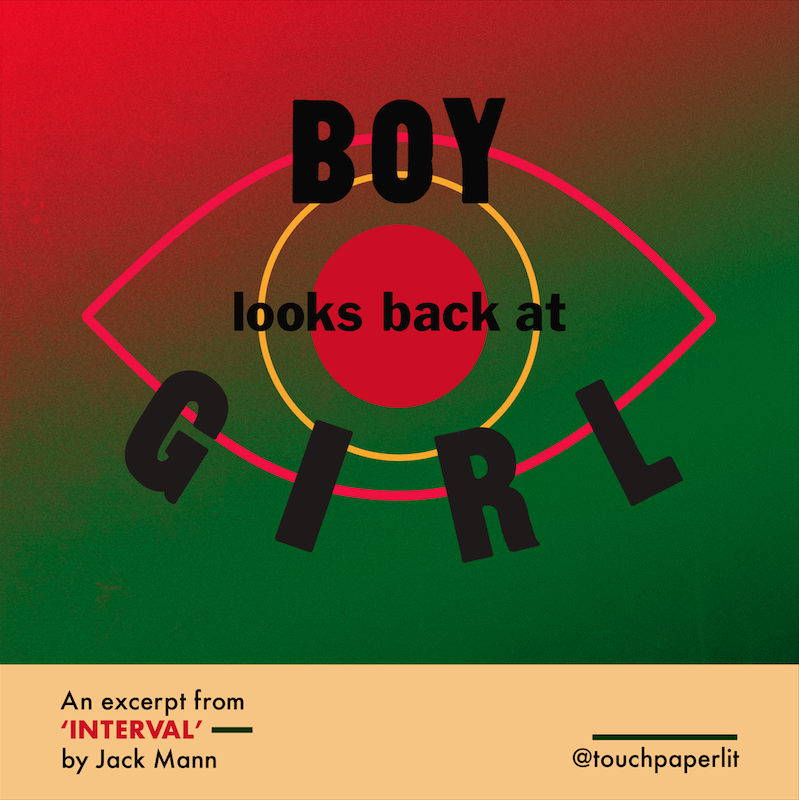 oliver deans illustrates boy looks back at girl poster_from interval by jack mann